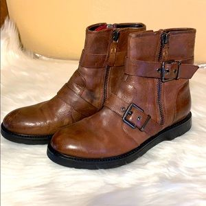 Luxury Rebel Cleary Brown Leather Boots